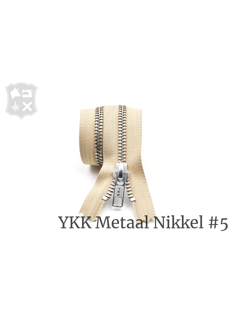 YKK Metaal YKK Metalen rits #5 Zilver, geremd (diverse lengtes) -  Zand 371