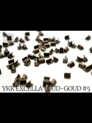 YKK Excella® Excella® eindstops #5, Top, Antique Brass (60 stuks)