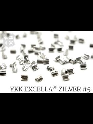 YKK Excella® Excella® eindstops #5, Top, Zilver (60 stuks)
