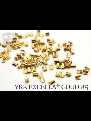 YKK Excella® Excella® eindstops #5, Top, Golden Brass (60 stuks)