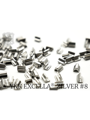 YKK Excella® Excella® eindstops #8, Top, Zilver (40 stuks)
