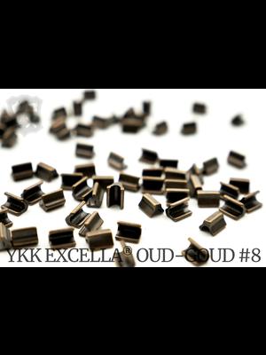 YKK Excella® Excella® eindstops #8, Top, Oud-Goud (40 stuks)