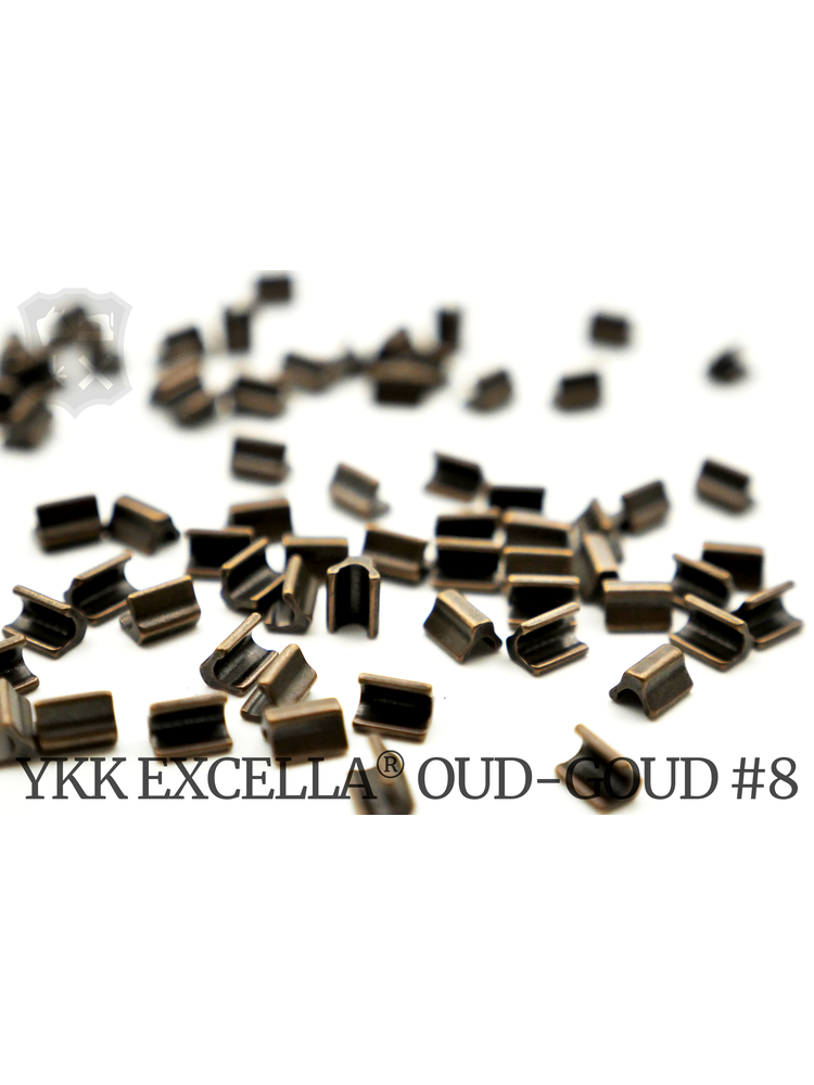 YKK Excella® Excella® eindstops #8, Top, Oud-Goud (60 stuks)