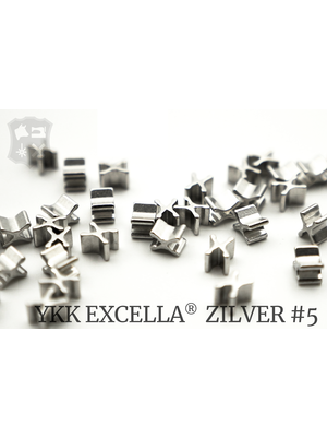 YKK Excella® Excella® beginstops #5, Bottom, Zilver (30 stuks)