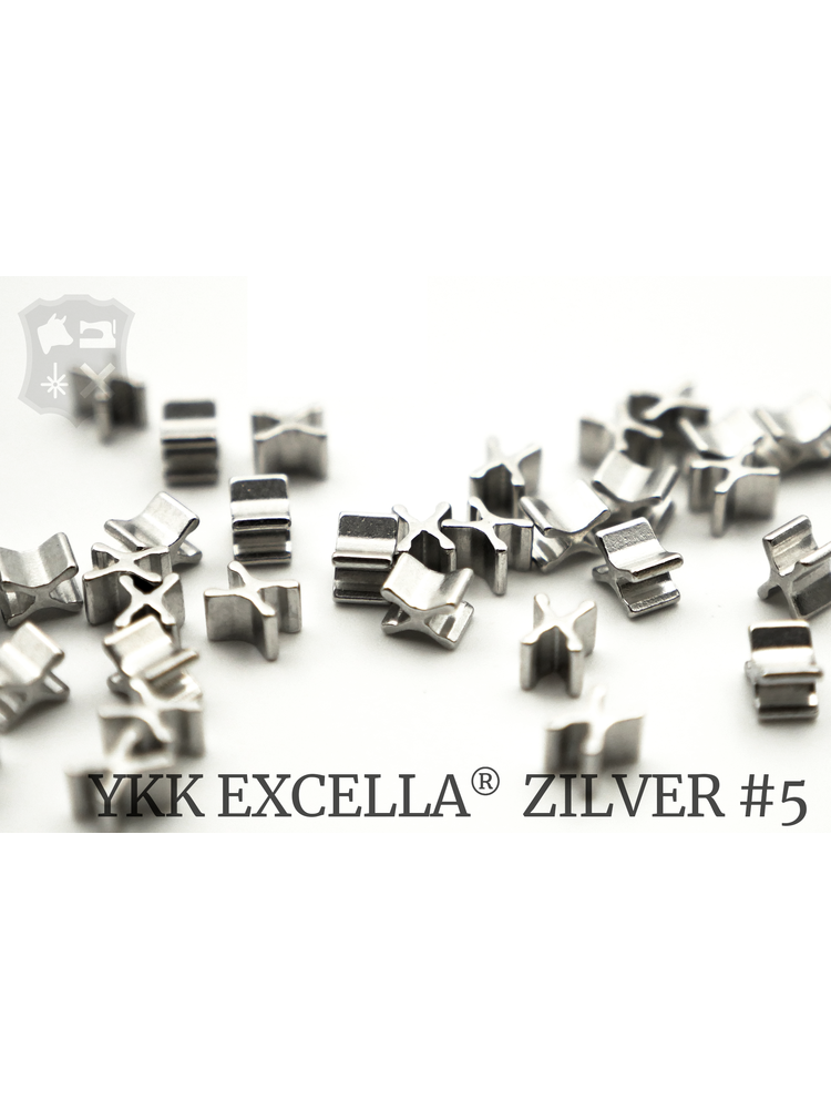YKK Excella® Excella® beginstops #5, Bottom, Zilver (20 stuks)