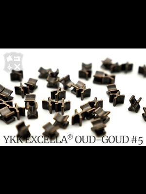 YKK Excella® Excella® beginstops #5, Bottom, Oud-Goud (20 stuks)