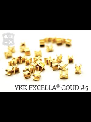 YKK Excella® Excella® beginstops #5, Bottom, Goud (20 stuks)