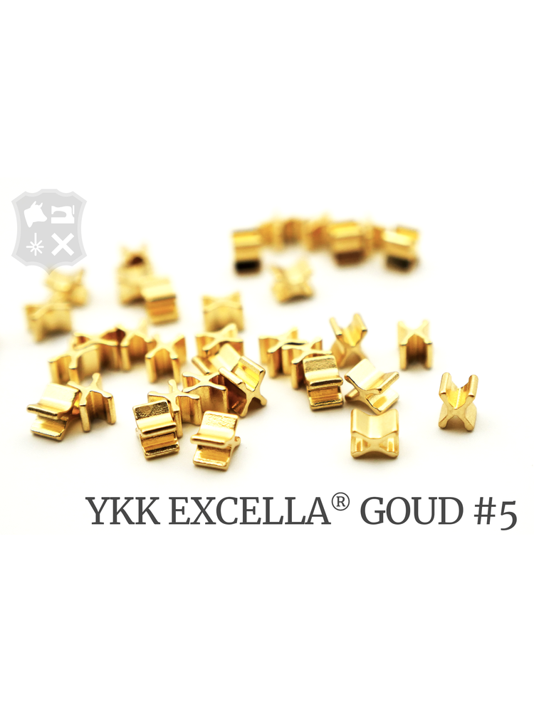 YKK Excella® Excella® beginstops #5, Bottom, Golden Brass (30 stuks)