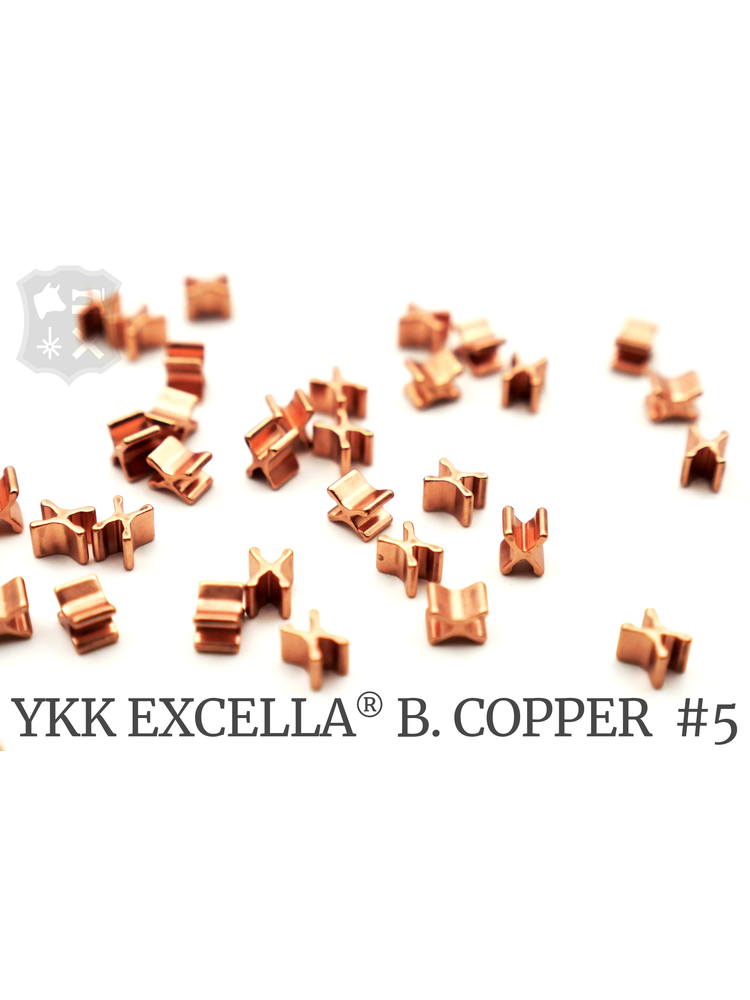 YKK Excella® Excella® beginstops #5, Bottom, Bright Copper (30 stuks)