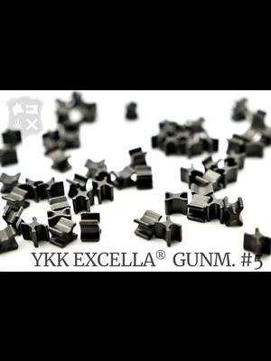 YKK Excella® Excella® beginstops #5, Bottom, Gunmetal (20 stuks)
