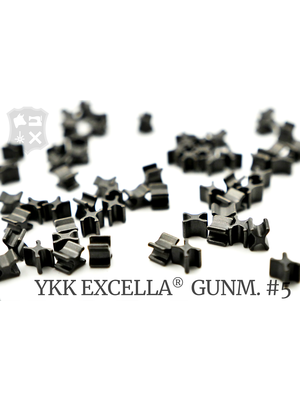 YKK Excella® Excella® beginstops #5, Bottom, Gunmetal (30 stuks)