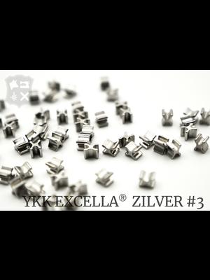 YKK Excella® Excella® beginstops #3, Bottom, Zilver (20 stuks)