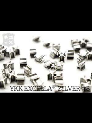 YKK Excella® Excella® beginstops #8, Bottom, Zilver (30 stuks)