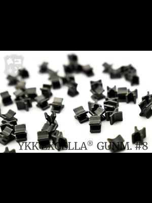 YKK Excella® Excella® beginstops #8, Bottom, Gunmetal (20 stuks)