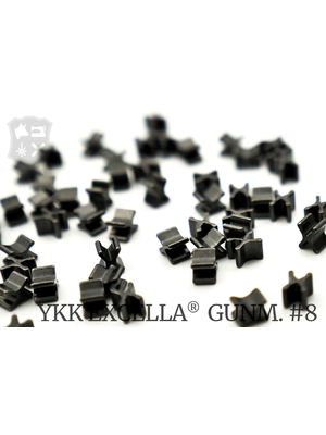 YKK Excella® Excella® beginstops #8, Bottom, Gunmetal (30 stuks)