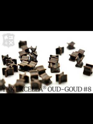 YKK Excella® Excella® beginstops #8, Bottom, Antique Brass (30 stuks)