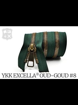 YKK Excella® YKK Excella Rits #8 Oud-Goud  op maat (enkel) - (Groen 153)