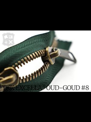 YKK Excella® YKK Excella Rits #8 Oud-Goud op maat (dubbel / head-to-head) - (F17- Groen 153)