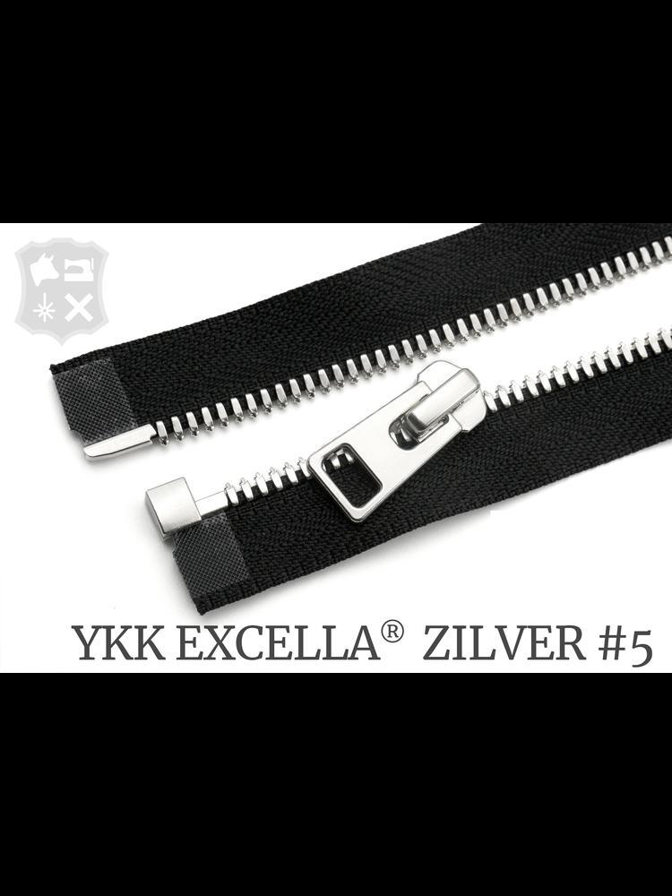 YKK Excella® YKK Excella®  Deelbare rits #5 Zilver, 90 cm - (ZA19 - zwart 580)