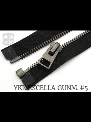YKK Excella® YKK Excella®  Deelbare rits #5 Gunmetal, 90 cm - (ZA19 - zwart 580)