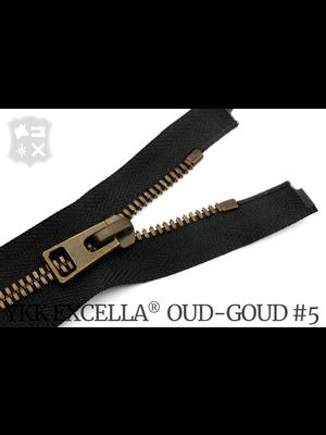 YKK Excella® YKK Excella®  Deelbare rits #5 Oud-Goud, 90 cm - (ZA19 - zwart 580)