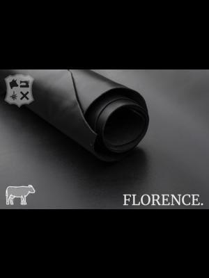 Florence Glad leder met een zijdeglans (ZA19: Onyx)