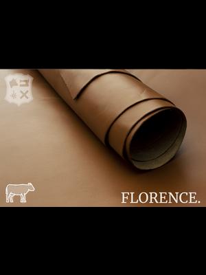 Florence Glad leder met een zijdeglans  (V11: Cognac)