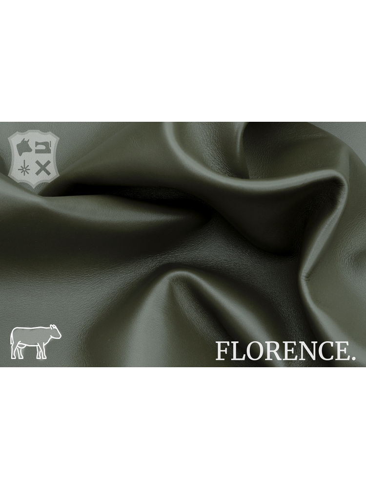 Florence Olive - Florence collectie: Strak glad leder met een zijdeglans