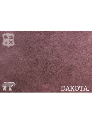 Dakota Aniline gelooid nappa leder (Q18: Eggplant)