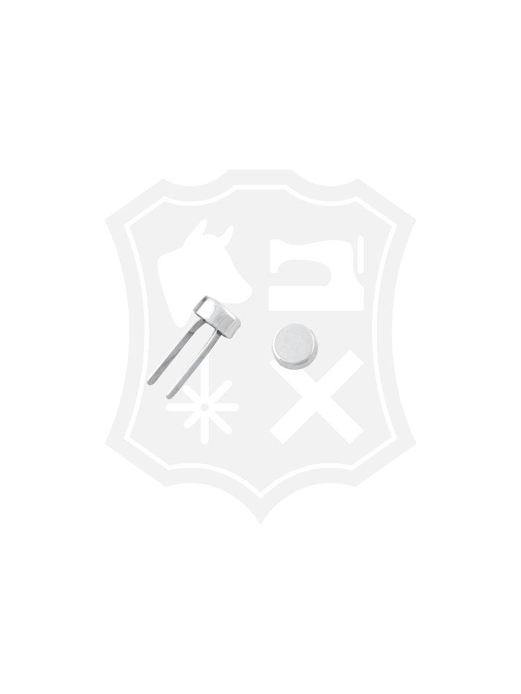 Studs, nikkelkleurig, diameter 11,2mm (4 stuks)