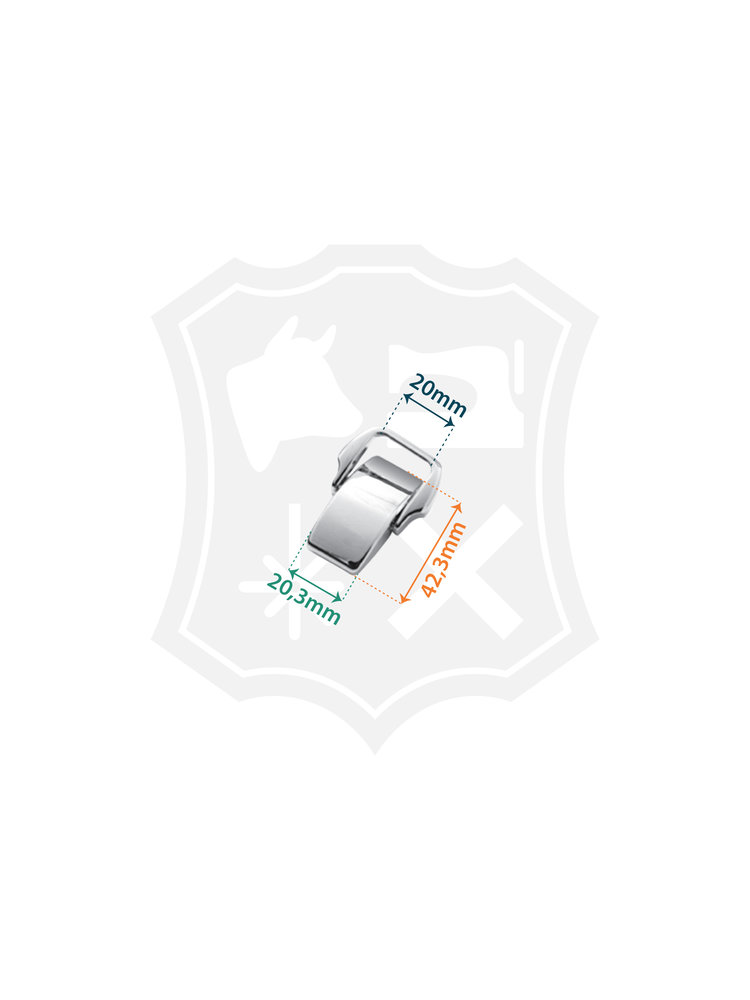 Mooie Tashengsel Bevestiging, nikkelkleurig, binnenmaat 20mm (2 stuks)