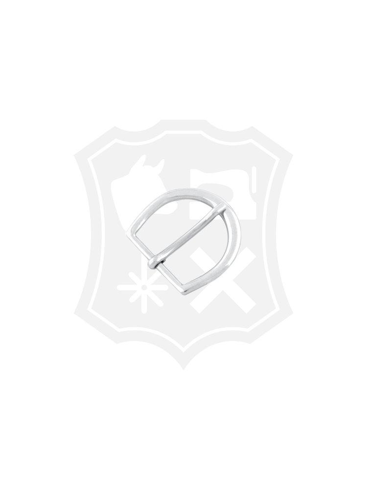 D-Vormige Gesp, nikkelkleurig, binnenmaat 30mm
