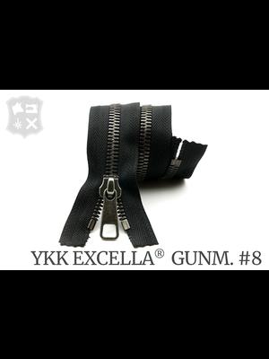 YKK Excella® YKK Excella Rits #8 Gunmetal op maat (enkel) - (ZA19 - zwart 580)