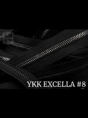 YKK Excella® Excella® #8 Gunmetal van de rol - (ZA19: Zwart 580)