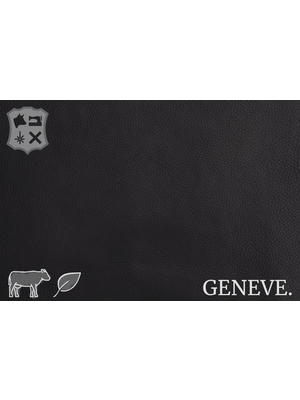 Geneve Plantaardig gelooid nappa leder (ZA19: Raven)