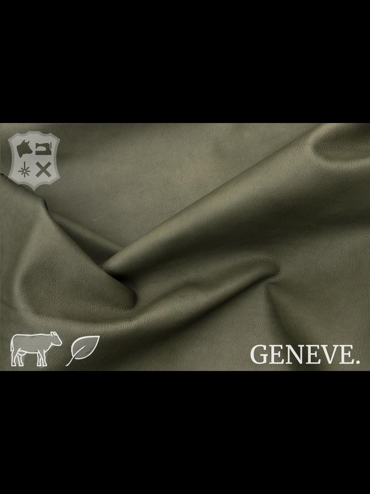 Geneve Plantaardig gelooid nappa leder in de kleur Moss Green - De Geneve collectie