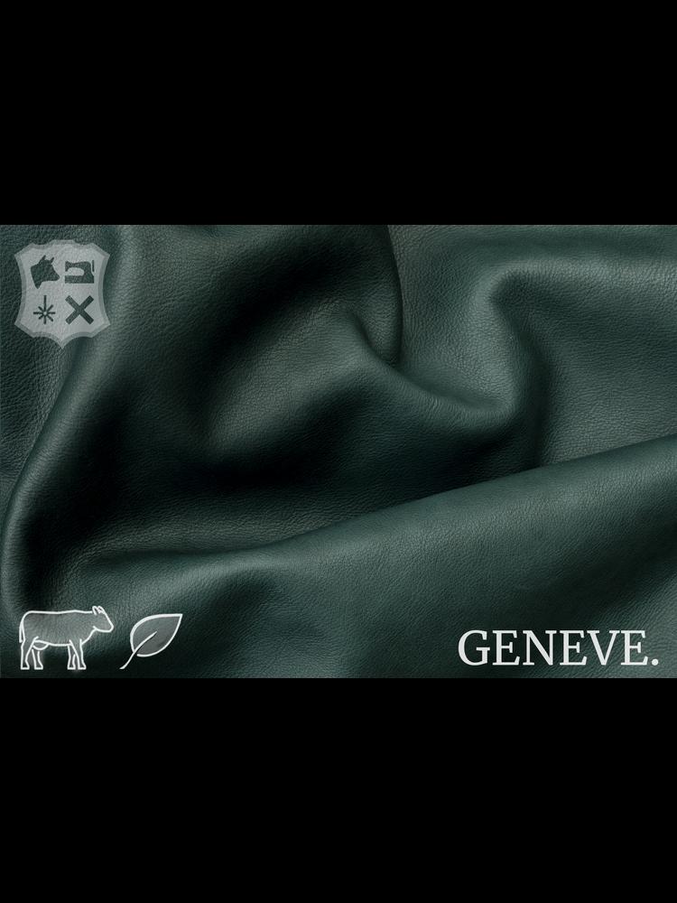 Geneve Plantaardig gelooid nappa leder in de kleur Pine Green - De Geneve collectie