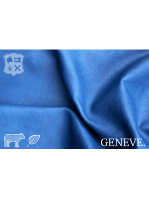 Geneve Plantaardig gelooid nappa leder in de kleur Peacock Blue - De Geneve collectie Peacock