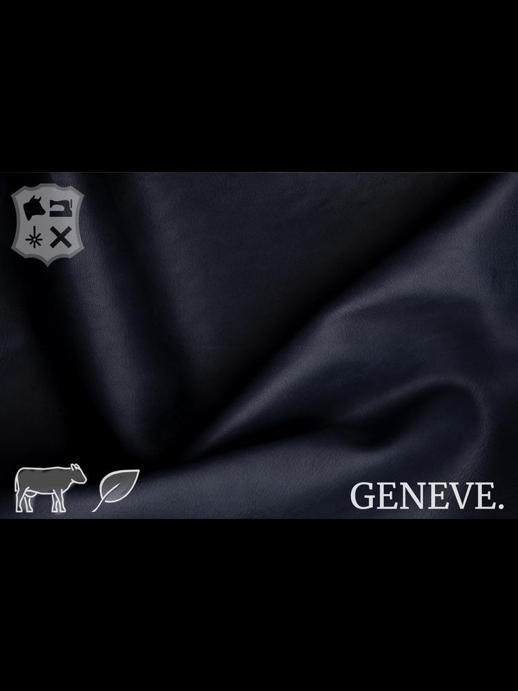 Geneve Plantaardig gelooid nappa leder in de kleur Atlantic Blue -De Geneve collectie