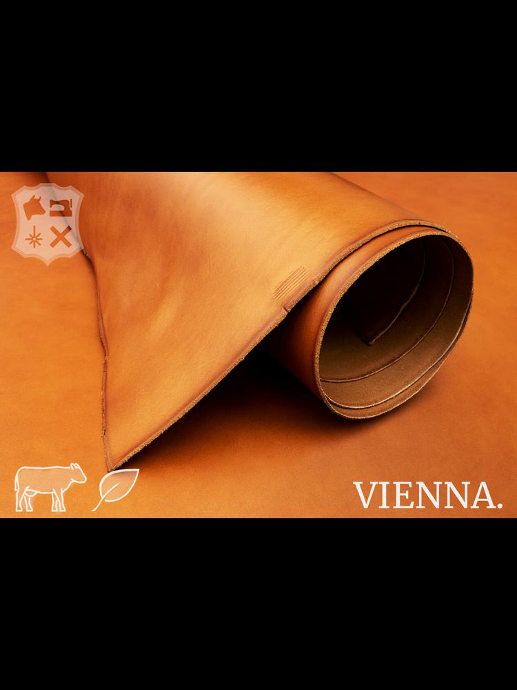 Vienna Cognac plantaardig gelooide tuigleder - De Vienna Collectie