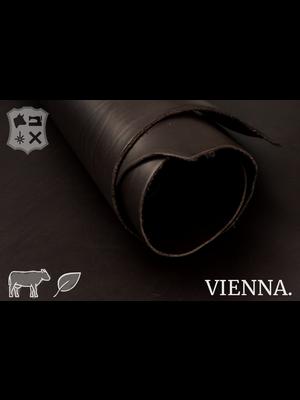 Vienna Plantaardig gelooid tuigleder (F20: Donkerbruin)