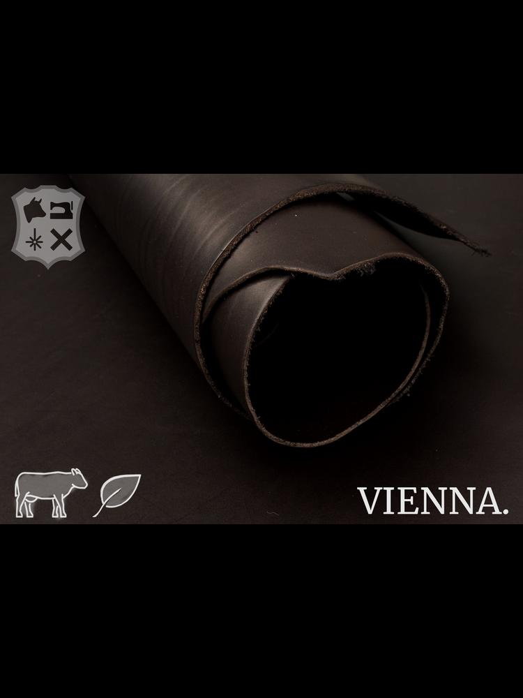 Vienna Donkerbruin plantaardig gelooide tuigleder - De Vienna Collectie
