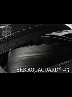 YKK Aquaguard® rits #5 mat zwart, geremd, enkel - (ZA19 - zwart 580)