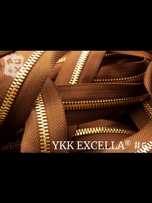YKK Excella® Excella® #5 Golden Brass van de rol - cognac (859)