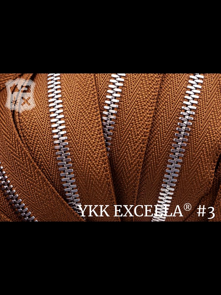 YKK Excella® Excella® #3 Zilver van de rol - cognac (859)
