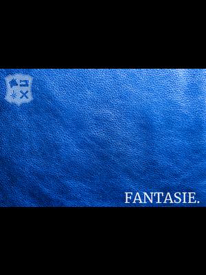 Fantasie Leder met glimmende folie - Blauw