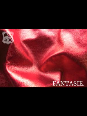 Fantasie Leder met glimmende folie - Rood