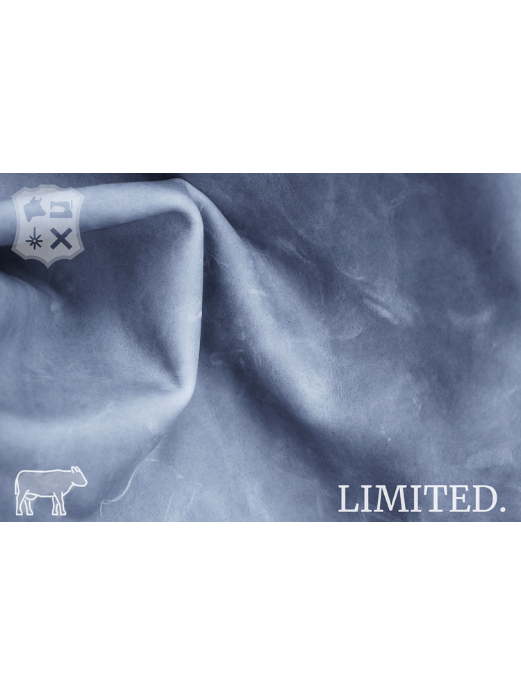 Grijs Leder met pull-up, 1.3-1.5 mm (Uitverkocht)