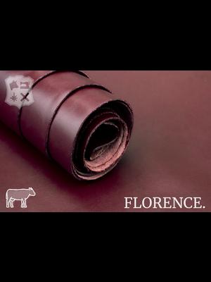 Florence Glad leder met een zijdeglans (Q17: Maroon)