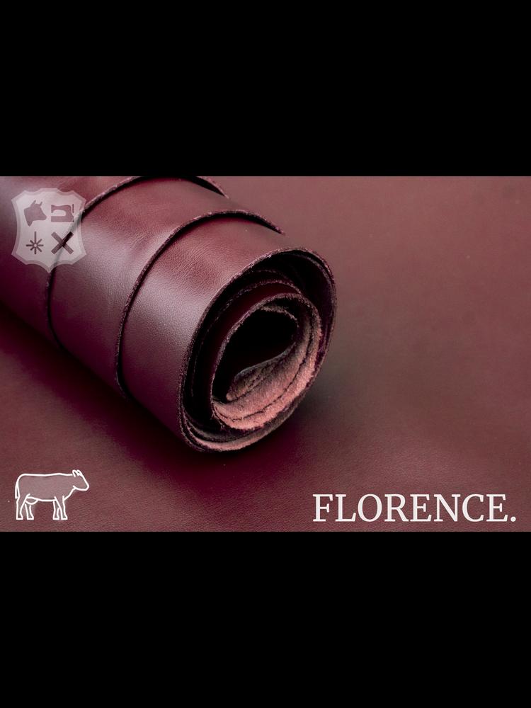 Florence Maroon - Florence collectie: Strak glad leder met een zijdeglans
